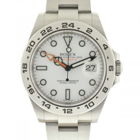 Rolex Explorer II 216570 White Dial Stainless Steel 42mm Watch Box & Papers