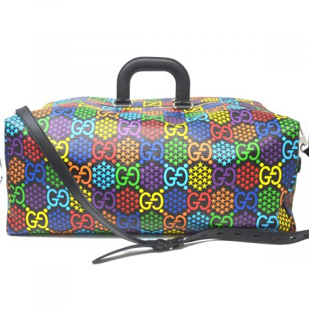 Gucci Limited Edition Psychedelic Multi Color Canvas Duffel Travel Bag