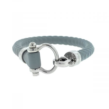 Omega Sailing Stainless Steel Gray Medium Rubber Bracelet