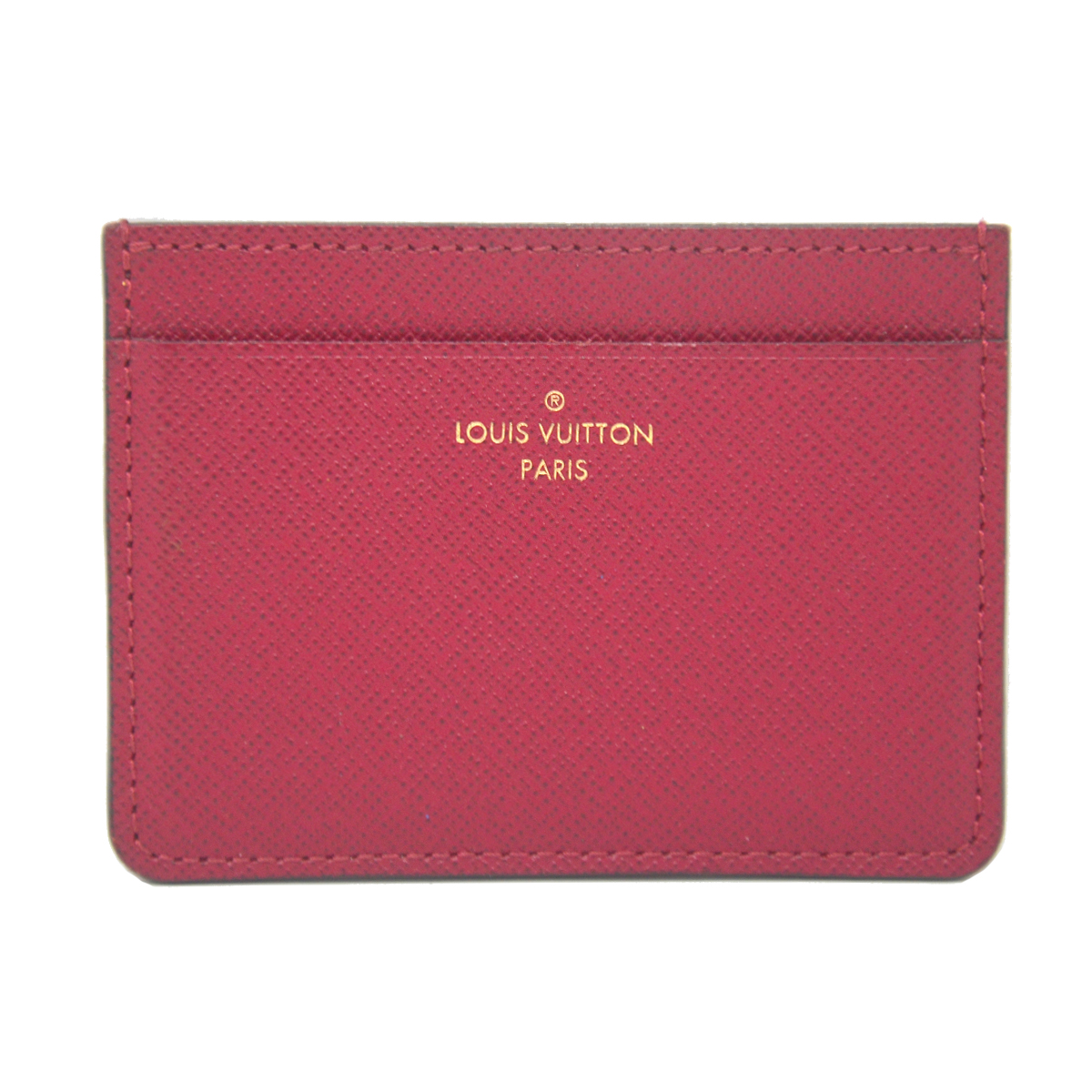 Louis Vuitton Jeanne Fuchsia Coated Canvas Wallet Carder Holder