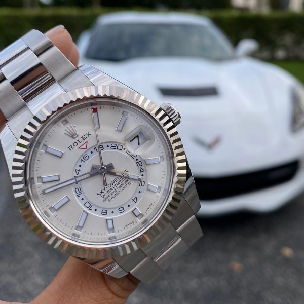 Rolex 326934 Sky Dweller White Dial Stainless Steel Watch