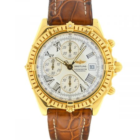 Breitling K13355 Crosswind Chronograph 18k Yellow Gold Men's Watch