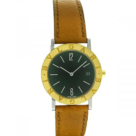 Bvlgari BB33GL Two Tone Automatic on Leather Strap Watch