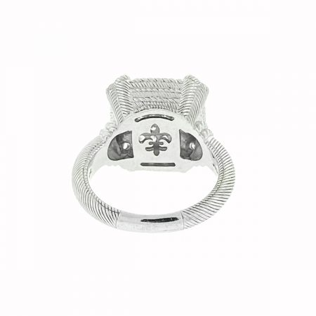Judith Ripka Sterling Silver Square Cluster Cz Ring