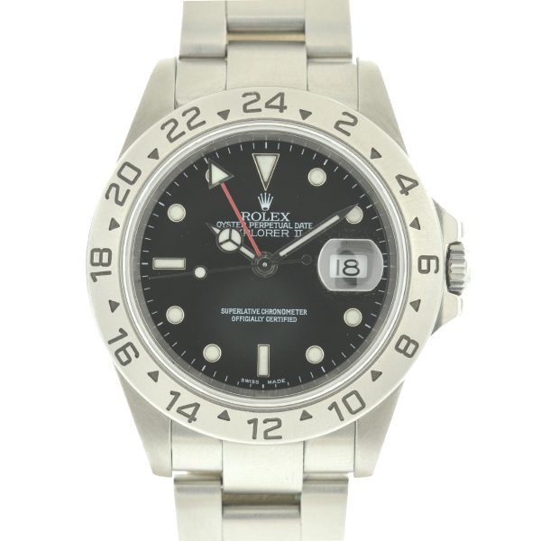 Rolex 16570 Explorer II Black Dial Stainless Steel Men's Watch