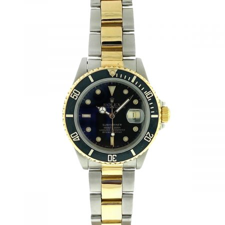 Rolex 16613 Two Tone 40mm Submariner Black Dial Watch