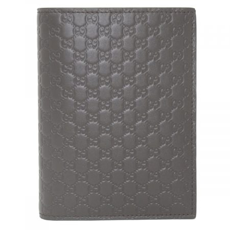 Gucci Micro Guccissima Brown Leather Passport Holder Wallet