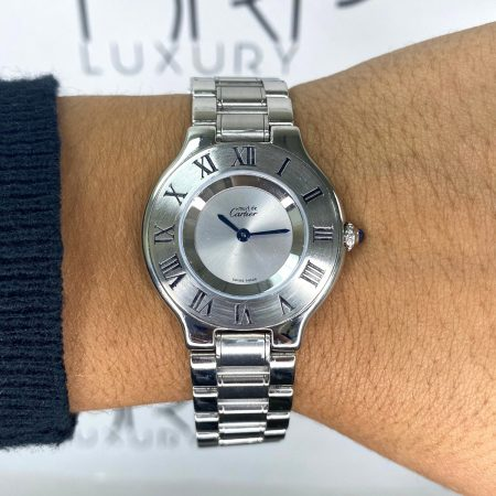 Cartier 1330 Must De 21 Stainless Steel 31mm Ladies Watch