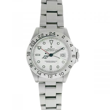 Rolex 16570 Explorer II 40mm White Dial Stainless Steel Watch
