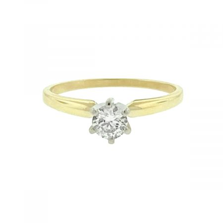 14k Yellow Gold Engagement Ring Approx .33ctw