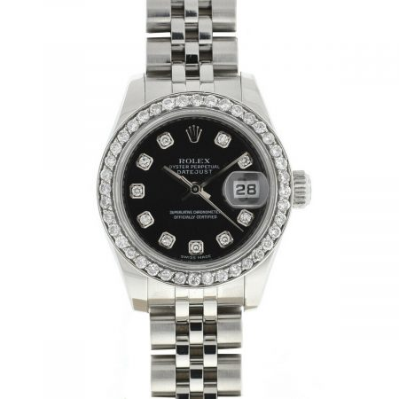 Rolex 179160 Datejust Factory Diamond Dial Ladies Watch