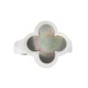 Van Cleef & Arpels 18k White Gold Mother of Pearl Pure Alhambra Ring