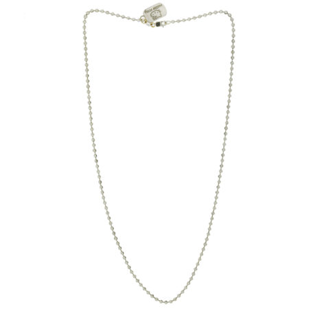 Hello Kitty By Kimora Lee Simmons 18k White Gold Round Link Chain Necklace