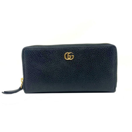 Gucci GG Black Leather Zippy Wallet