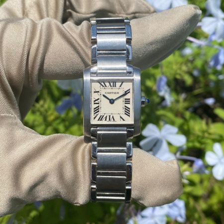 Cartier Tank Francaise 25mm Stainless Steel Ladies Watch