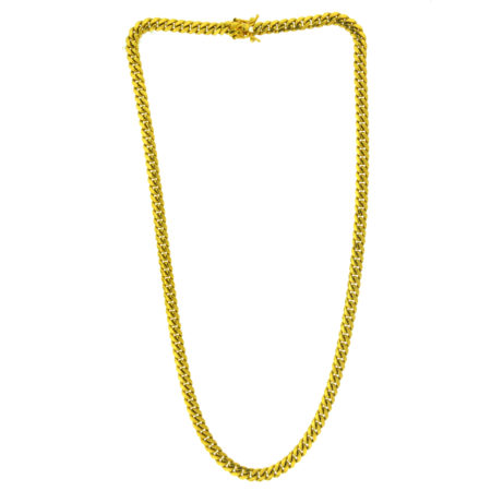 14k Yellow Gold Cuban Link Style Chain Necklace