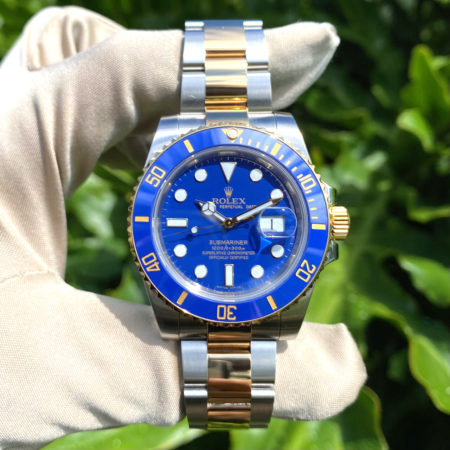 Rolex 116613 Submariner 40mm Two Tone Blue Dial Watch CARD INCLUDED