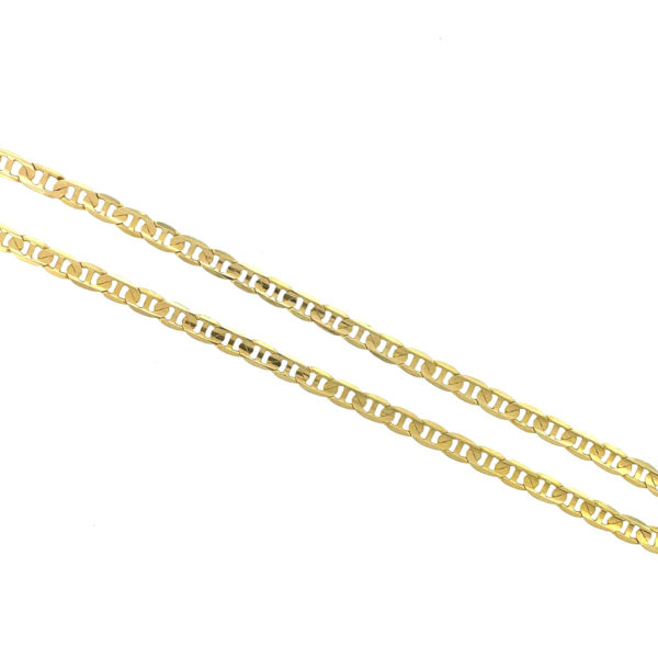 14k Yellow Gold Figaro Link Style Chain Necklace